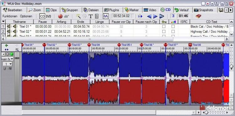 Reihenfolge beim Mastern mit Wavelab
