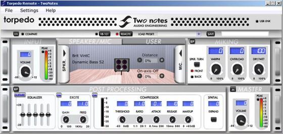 Software zum Two Notes Torpedo VB-101 für Gitarre und Bass