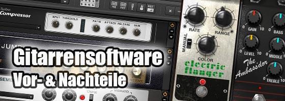 Die Vor- und Nachteile von Gitarrensoftware und Gitarrenplugins