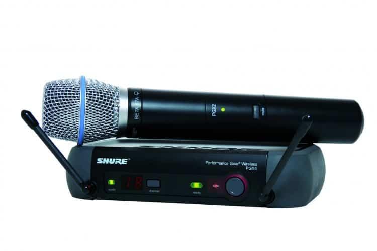 Shure beta 87A Gesangsmikrofon mit PGX Funksystem