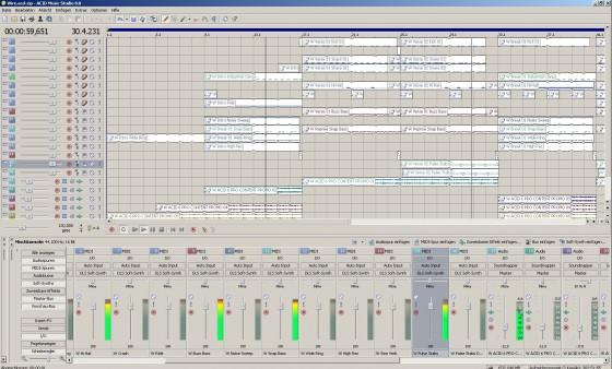 Die Oberfläche von Sony ACID Music Studio 8 im Testbericht