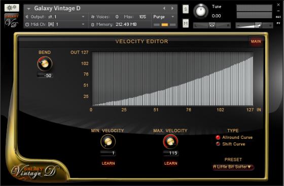 Galaxypianos Vintage D Testbericht Velocity Editor
