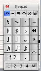 Das Keypad im Sibelius 6 Testbericht