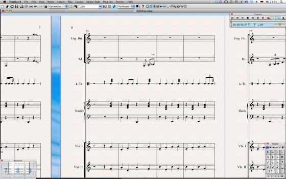 Partitur im Sibelius 6 Testbericht