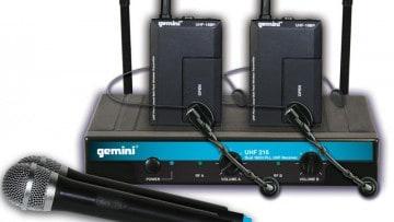 Gemini UHF-216 drahtloses Mikrofon Funkstrecke