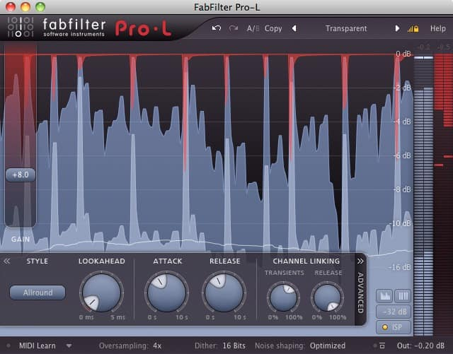 FabFilter Pro-L Limiter für Mastering und Mixing