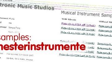 Free Samples Orchester und Orchesterinstrumente