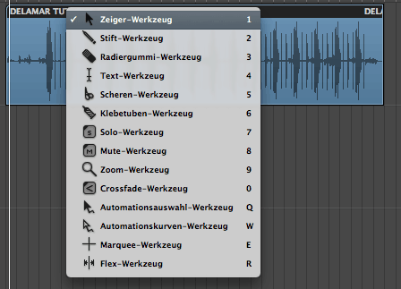 Logic Tutorial Studio Express Werkzeuge