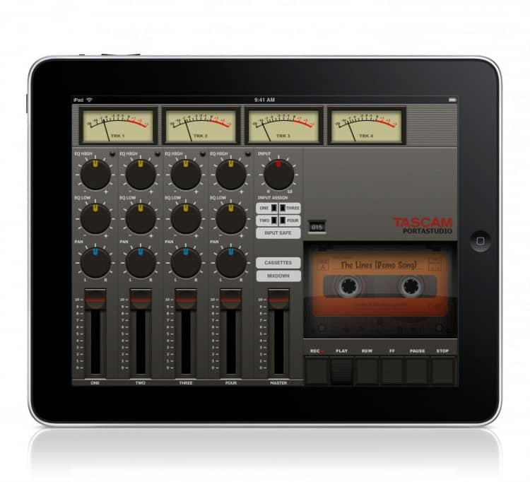 Tascam Portastudio für iPad
