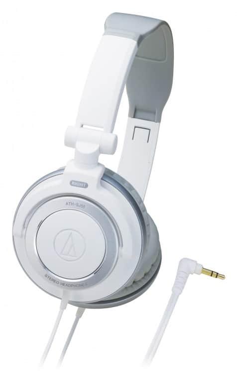 Stylischer DJ-Kopfhörer Audio-Technica ATH-SJ55 in Weiss