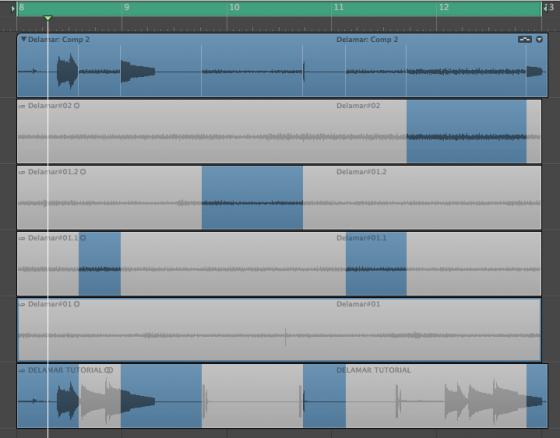 Comping im Logic Studio 10 Tutorial