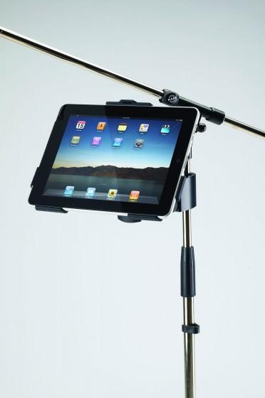 iPad Halter für Mikrofonstativ oder Befestigung an einem Rohr