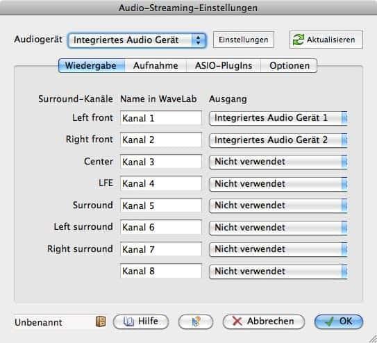 Wavelab 7 Testbericht Audioeinstellungen