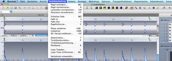 Wavelab 7 Testbericht Audiobearbeitung