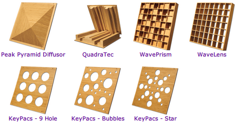Auralex Acoustics Sustain Bamboo Sound Diffusor Series