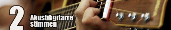 Gitarre stimmen - Recording der Akustikgitarre