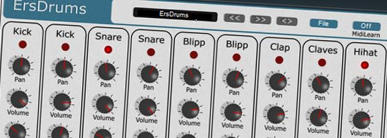 Beat Making Software: free VSTi Drum Machine ERSdrums