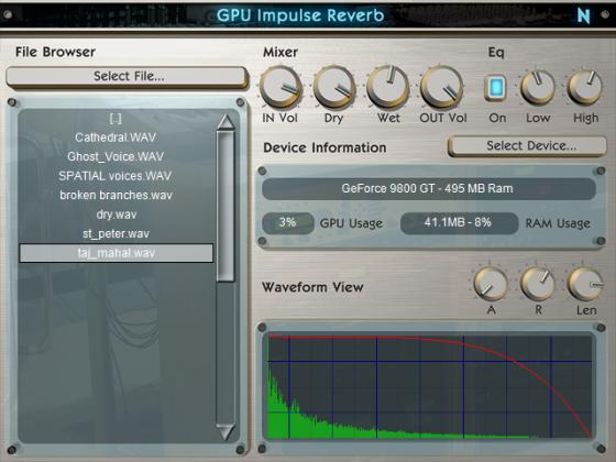 GPU Impulse Reverb VST