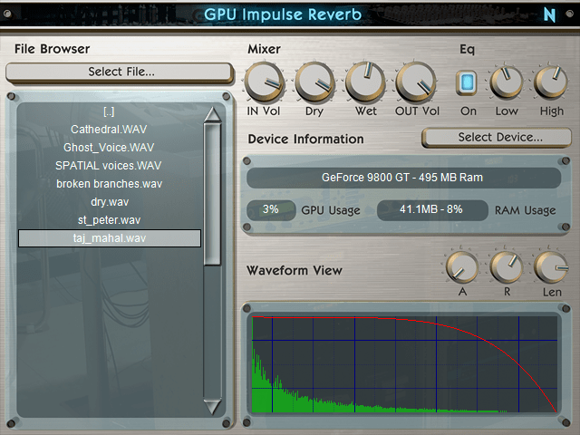 GPU Impulse Reverb VST