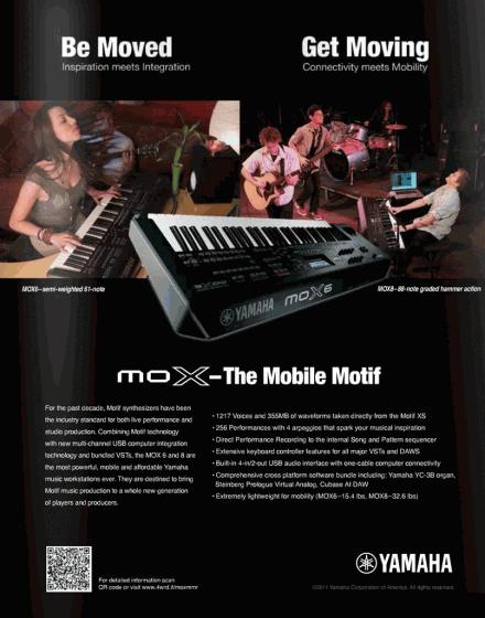 Yamaha moX-6 & Yamaha moX-8 Workstation