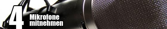 Mikrofone - 7 Tipps für bessere Gigs