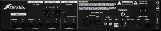 Fractal Audio Systems Axe-Fx II - Rückseite