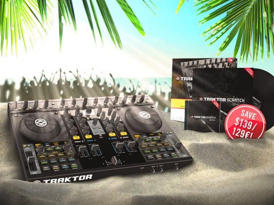 Native Instruments TRAKTOR KONTROL S4 im Juli inklusive Scratch Upgrade Kit