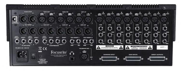 Focusrite Control 2802 - Rückansicht