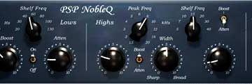 Neue Equalizer Plugins PSP Audioware NobleQ & NobleQex