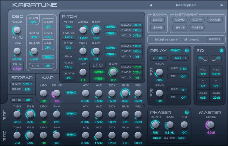 Futucraft Kairatune - Free VST Synthesizer