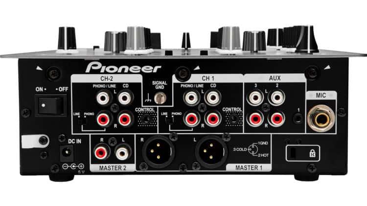Pioneer DJM-250 Anschlüsse