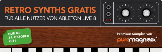 Puremagnetik Retro Synths für Ableton Live