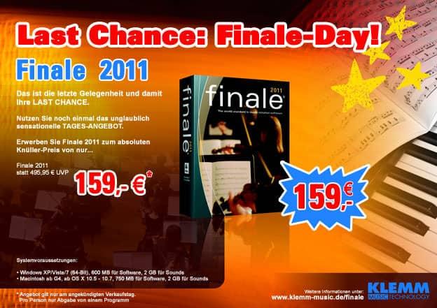 Finale 2011 zum Hammerpreis bei Session Music