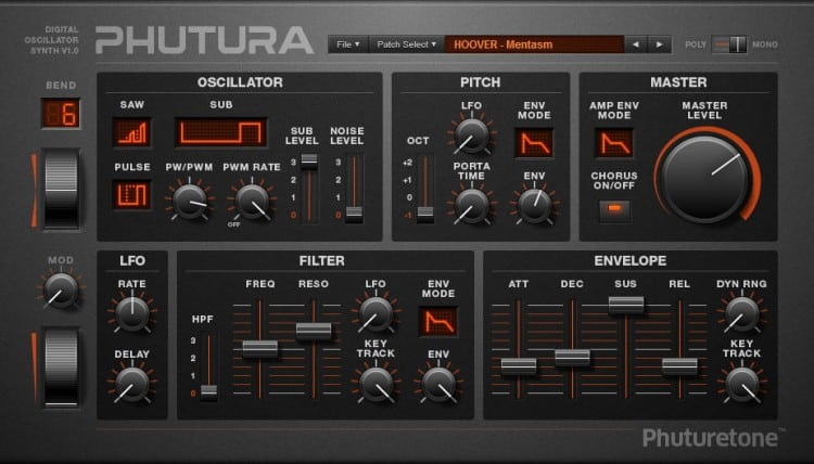 Phuturetone Phutura - Free VST Synthesizer