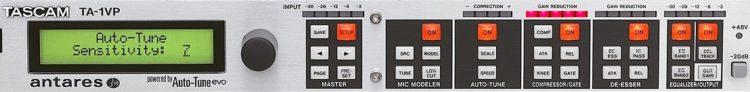 Bedienung Vorderseite - Tascam TA-1VP Test