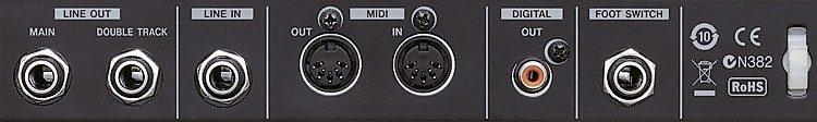 Anschlüsse Rückseite - Tascam TA-1VP Test