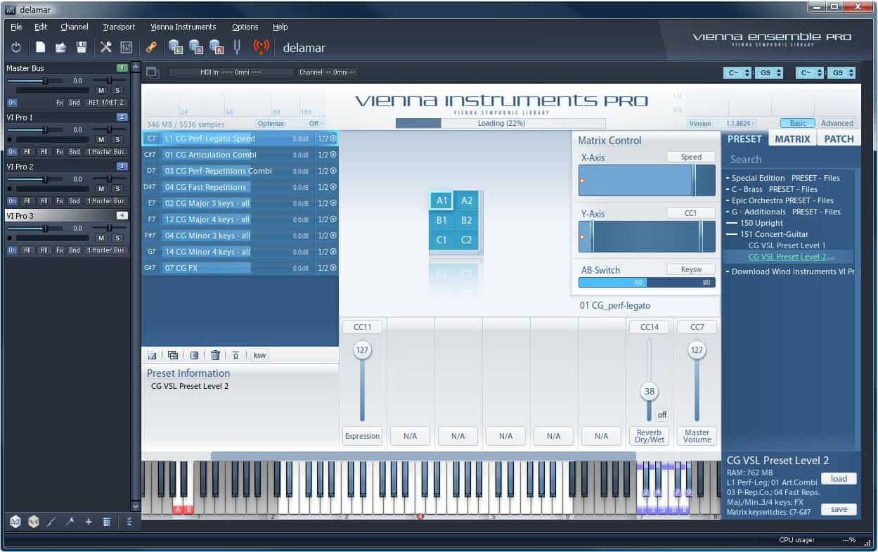 Vienna Ensemble Pro Test Delamarde