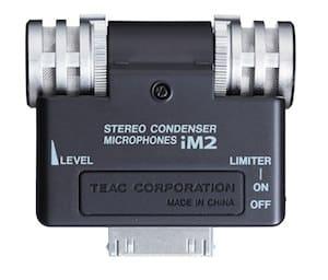 Tascam iM2 Stereomikrofon für iPod, iPhone und iPad