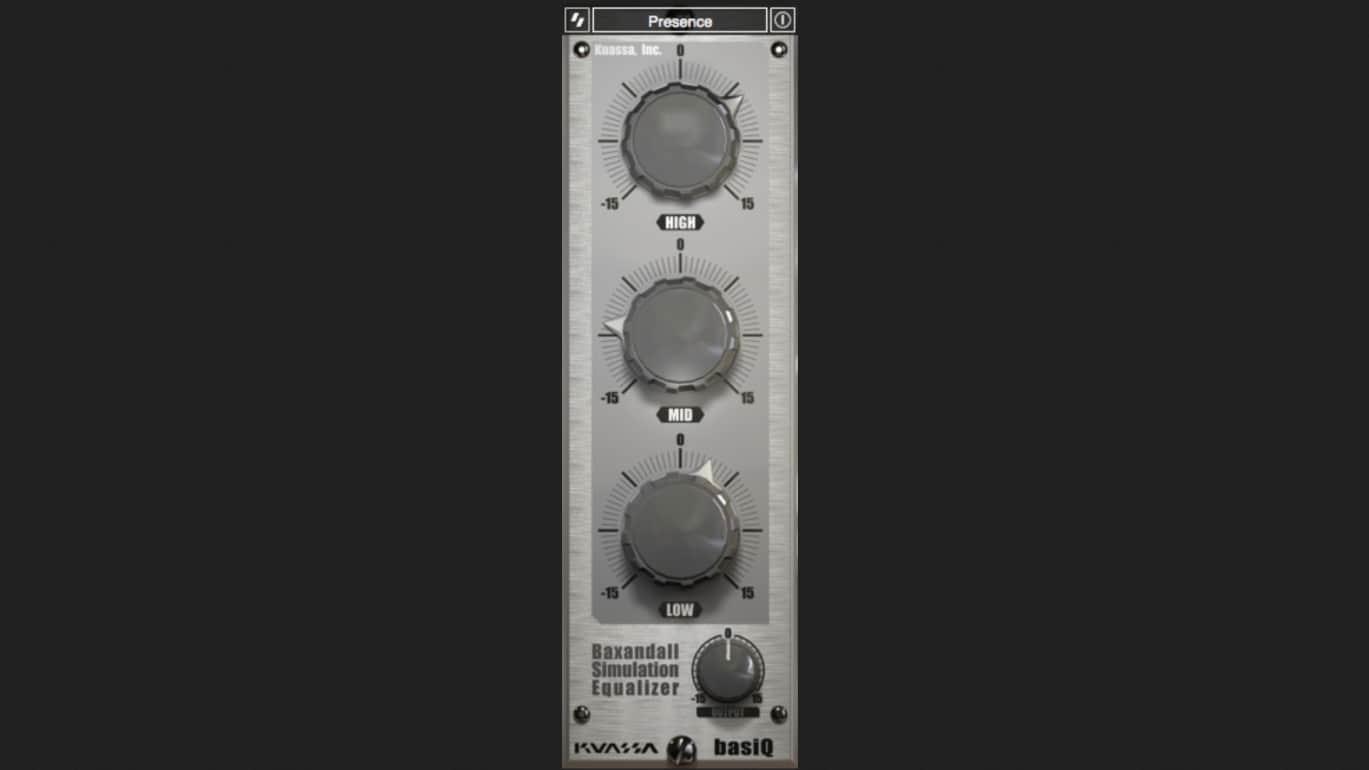 Kuassa Basiq Schlichter 3 Band Equalizer Control