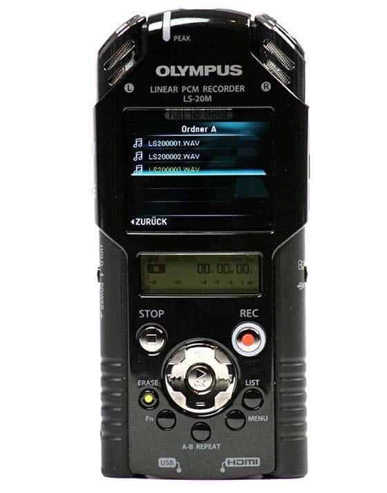 Olympus LS-20M Testbericht Field Recorder