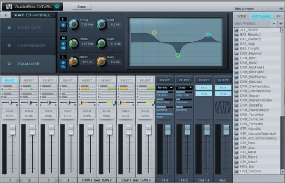 PreSonus AudioBox 44VSL Testbericht - Mixer