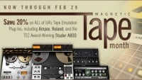 Universal Audio Magnetic Tape Month