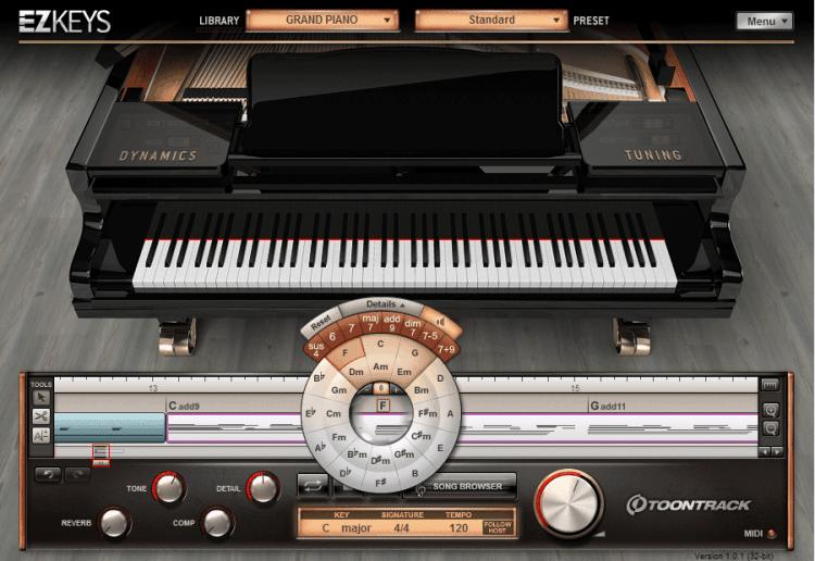 Synthesizer Software und virtuelle Instrumente - Toontrack EZkeys
