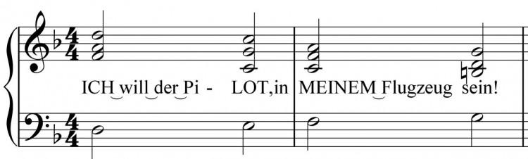 Betonungsschema - Chorus, betonte Silben, schwere Zählzeiten - Songwriting Grundlagen