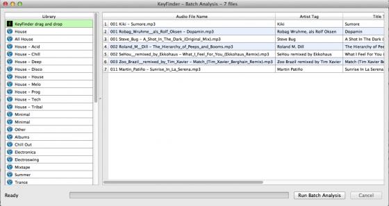 Tonart herausfinden - Musik verwalten & sortieren