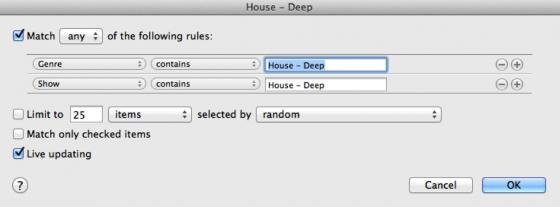 Automatisch Musik verwalten in iTunes mit Smart Playlists