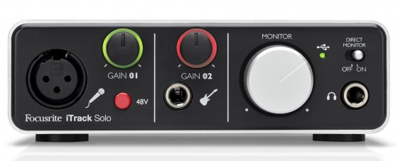Focusrite iTrack Solo Audio Interface für iPad