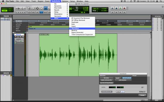 Audiobearbeitung: Normalisieren