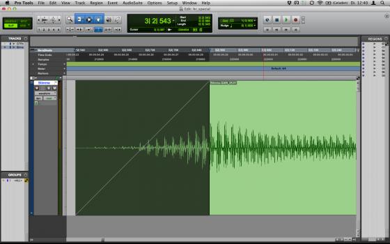 Audiobearbeitung: Fade-In