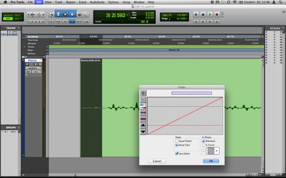 Audiobearbeitung: Fade-In destruktiv
